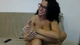 Erikka licking her toes