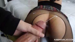 Kawaii_girlxo: Girl fucked and creampie with pantyhose fishnets