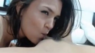Lesbian pussy licking in live sex!