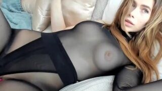 Ms_guinevere foot fetish wearing pantyhose and leotard